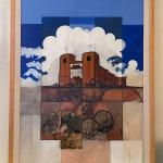 Ed Pointer Southwest Adobe Church 1987 Mixed Media on Panel