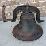 Large Antique Cast Iron Church School Bell