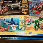 NEW sets of Creator 3 in 1  lego sets.(4)—LOWER PRICE for