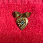 Vintage Coro locket brooch