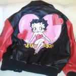 Betty Boop Leather Bomber