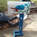 Large Mailbox Oversize Roadside Post Mounted Mail Street Postal Box Metal