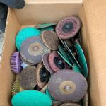 Box of grinding wheels, cutting wheels, strippers