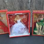 LOT 444 HOLIDAY BARBIE 2011, 2013 & 2014