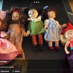 Wizard of Oz Glenda, cowardly lion, wicked witch, scarecrow, Dorothy mini dolls
