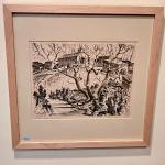 RARE Gift print by CA Seward 1936 Prairie Printmaker