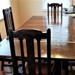 Lot #122 Vintage Dining room set - oak - 6 chairs