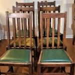 Lot #116  Set of 6 Oak Chairs