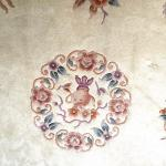 Carved wool Chinese round rugs