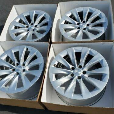 "Photo of 20"" Tesla Model X Slipstream Wheel Silver (4) Rims"
