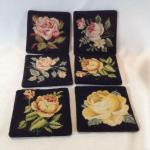 Set of Needlepoint Coasters