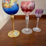 Vintage Anniversary Wine Glasses