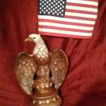 Ceramic eagle flag holder