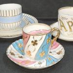 "Lot 29: Gold gilt fine china Sontag and Sons( Royal Bayreuth), ""Papa"" moustache"