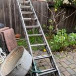 Lot 163. Aluminum ladder and galvanized basin--$50