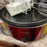 Red Crockpot and Mixer