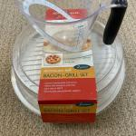Microwave Bacon Grill Container and Measuring Cup