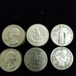 Item (42) Mixed Silver Quarters. .