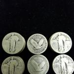 Item (50) Standing Liberty Silver Quarters.