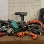 #385 Super Lot of Cordless Tools - Green Bin