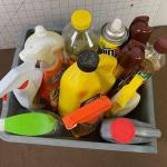 #396 Box of Household Cleaners: Soaps, dusting etc.
