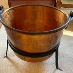 Lot 47: Copper Cauldron