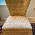 Lot 76: Cushioned chair