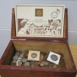 Lot 213 - Wooden Box With American Coin