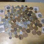 Lot 212 - Bag Full Of Foreign Coins & Paper Money