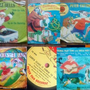 "Photo of 6"" Records from the 1950's"
