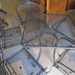 Lot 207 - Outdoor Metal Table & Chair