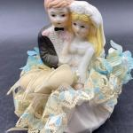 Vintage Wedding Topper Keepsake Figurine Couple YD#012-1120-00105
