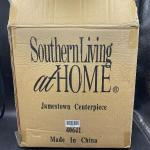 Southern Living at Home Jamestown Centerpiece Metal Basket w/ Glass New In Box Y