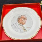 Palissy Pope John Paul II Collector Plate and Cross Bookmarker YD#