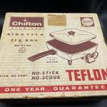 Vintage Chilton Aluminum Electric Fry Pan New in Box
