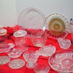 Lot 47 EAPG Cut crystal, Overlay Glass, Vintage soda maker , princess House