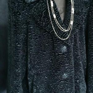 Photo of Faux Black Lamb Coat XL