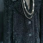Faux Black Lamb Coat XL