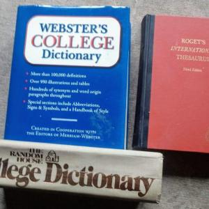 Photo of 3 Vintage Dictionaries