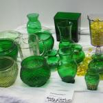 Lot 45 Vintage brody 1950s vases and other depression glass and glow glass