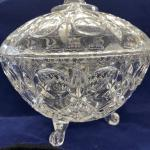 Footed Crystal Lidded Candy Dish