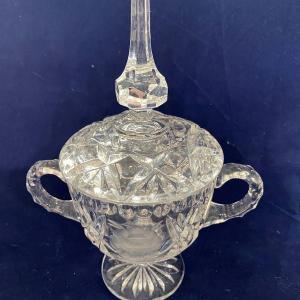 Photo of Crystal Candy Dish with Handles
