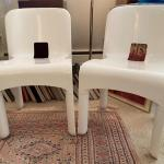 Kartell Joe Colombo White plastic chairs