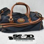 Jaguar Duffle Bag, Navy & Brown
