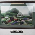 Framed Art Print by Koury Floral Garden with Gazebo