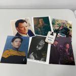 .298. SIX Star-Trek Autographed 8x10s | Q | Klingon | Romulan