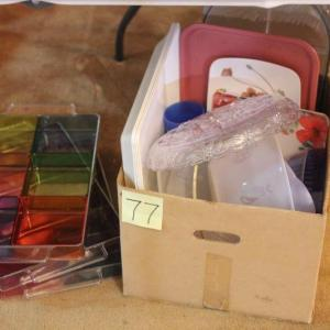 Photo of Lot 77 Box of Plastic Kitchen/Serving Ware