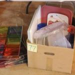 Lot 77 Box of Plastic Kitchen/Serving Ware