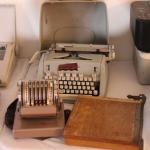 Lot 67 Vintage Hermes 3000 Typewriter, Paymaster Adding Machine & More