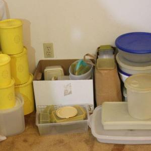 Photo of Lot 71 Tupperware & Misc. Plastic Storage